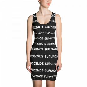 SUPURCOZMOS MOTIF CUT & SEW BLACK DRESS