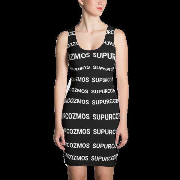 SUPURCOZMOS MOTIF CUT & SEW BLACK DRESS