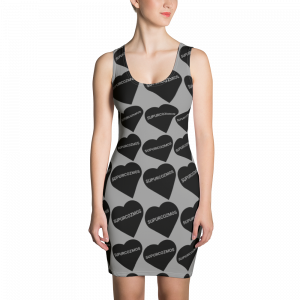 SUPURCOZMOS SWEETHEART CUT & SEW BLACK & GRAY DRESS