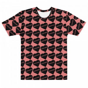 SUPURCOZMOS™ BLACK & PINK SWEETHEART SHORT SLEEVE MEN'S T-SHIRT