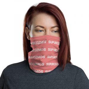 SUPURCOZMOS Pink Motif Face Mask Neck Gaiter