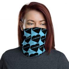 SUPURCOZMOS Blue Sweetheart Motif Face Mask Neck Gaiter