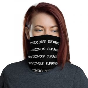 SUPURCOZMOS Black Motif Face Mask Neck Gaiter