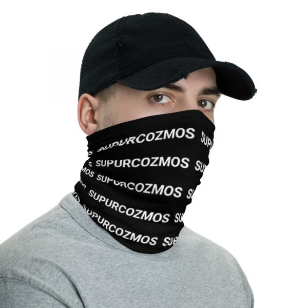 SUPURCOZMOS Black Motif Face Mask Neck Gaiter