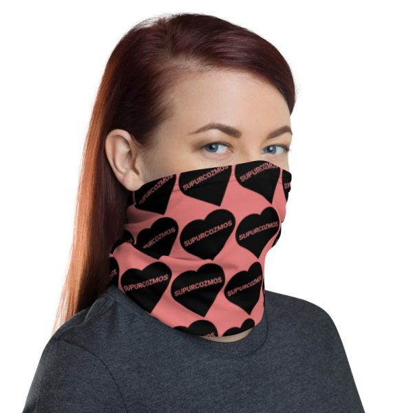 SUPURCOZMOS Pink Sweetheart Motif Face Mask Neck Gaiter