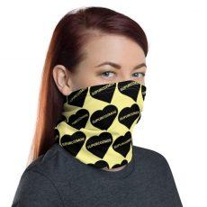 SUPURCOZMOS Yellow Sweetheart Motif Face Mask Neck Gaiter